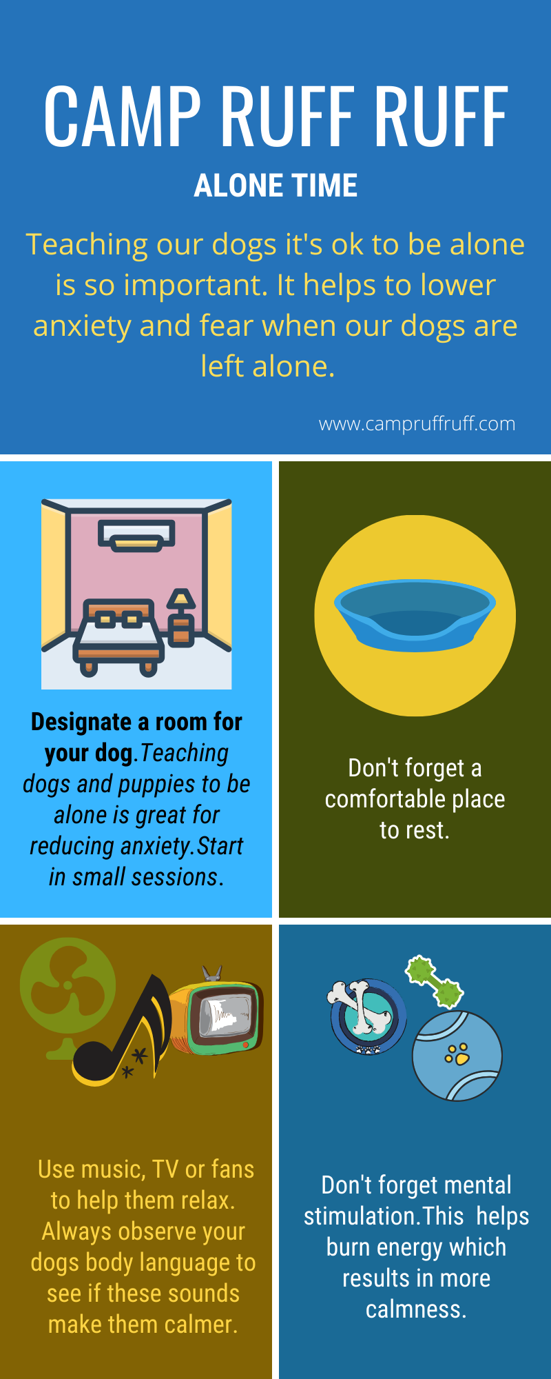 teaching a dog alone time